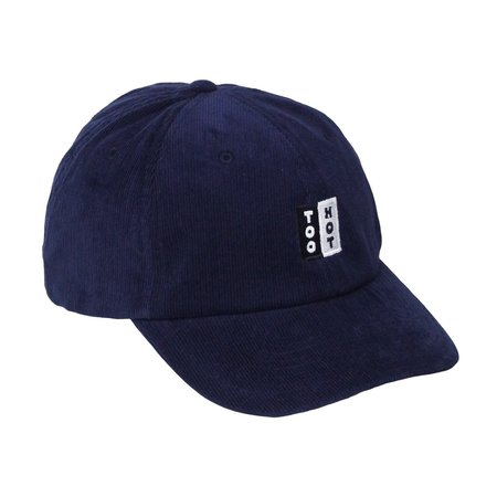 Innouitoosh NAVY BLUE NEEDLE CORD EMBROIDERED LOGO CAP - Black