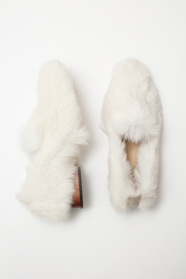 Mari Giudicelli Gavea Loafer - white fur