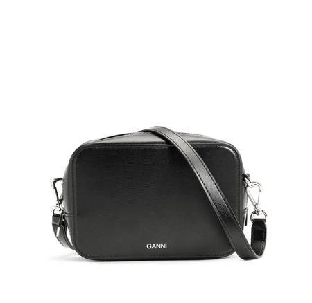 GANNI Small Leather Bag - Black