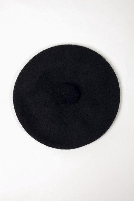 FOLD Wool Beret - Black