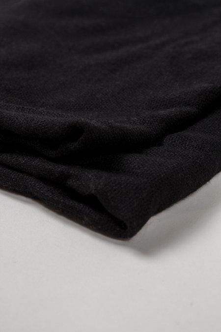 FOLD Wool/Cashmere Scarf - Black
