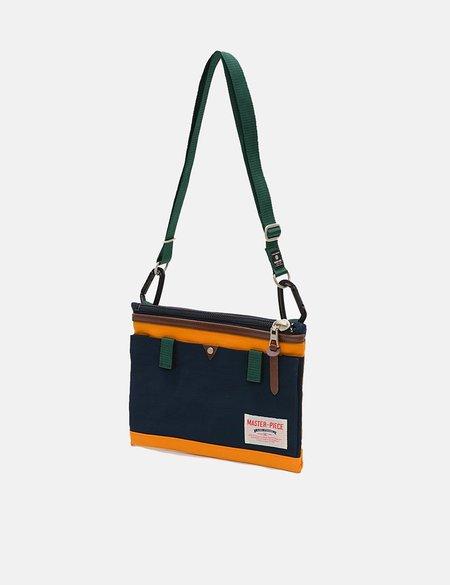 Master-Piece Link Sacoche Side Bag - Navy Blue/Orange