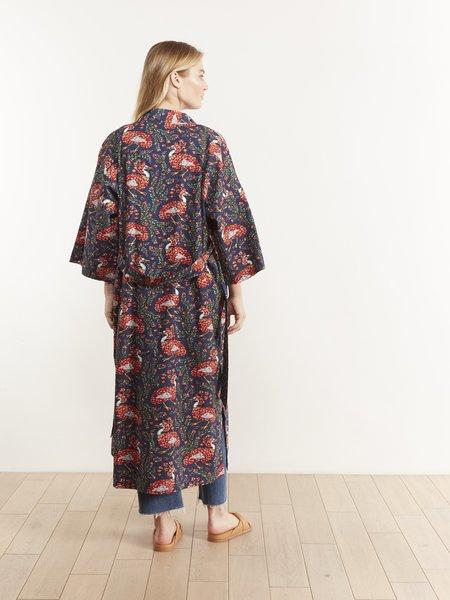 Printfresh Queen Lotus Robe - INDIGO