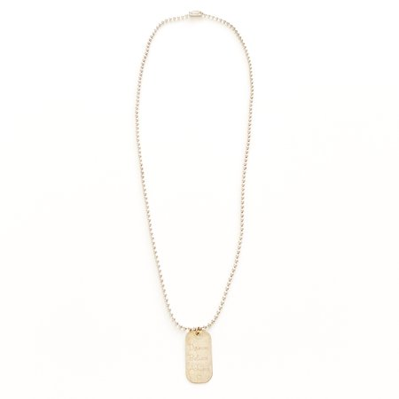 Bijoux B Quote Tag Necklace - Sterling Silver