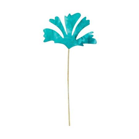 Sibilia ALGAE FLOWER PATINA - Brass/turquoise