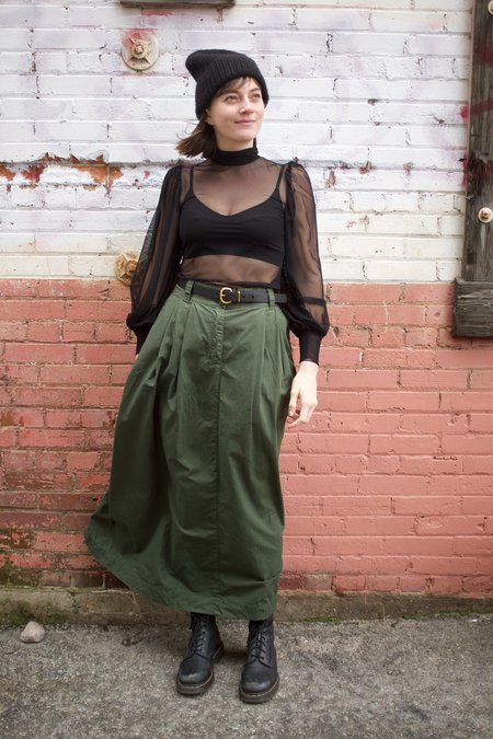 Girls of Dust Service Skirt Rip Stop - Forest Green