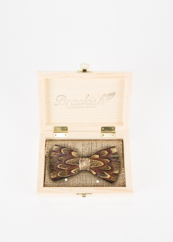 Men's Brackish Pheasant with Snakeskin Bow Tie