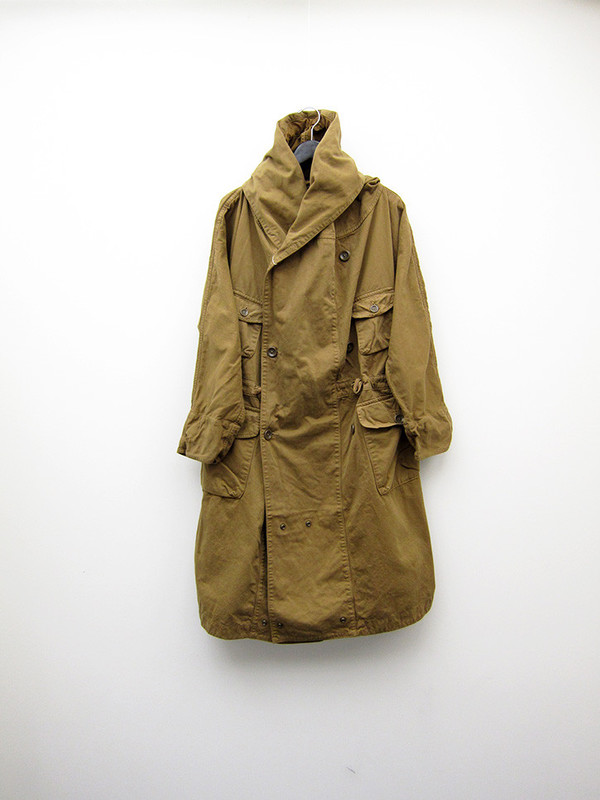 Kapital Katsuragi Tall Ring Coat, Gold Khaki