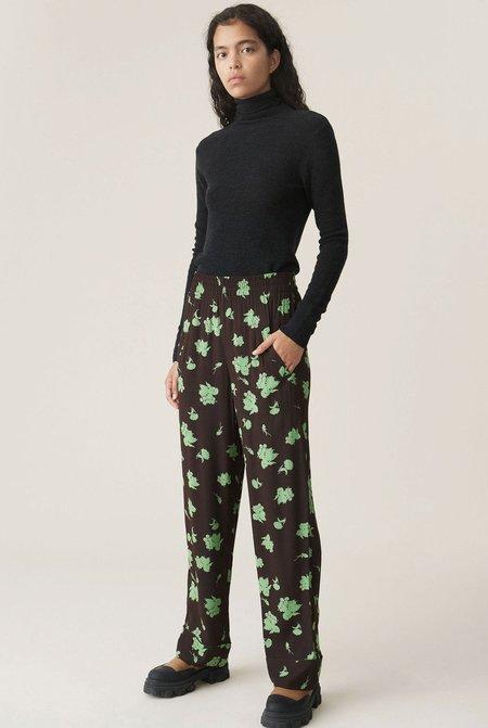 Ganni Printed Crepe Pants