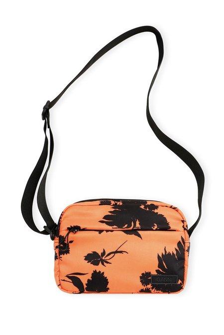 Ganni Recycled Tech Fabric Bags Festival Bag - ORANGE/BLACK