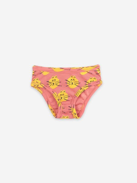 KIDS Bobo Choses B.C. & All Over Cat Print Underwear Set - PINK