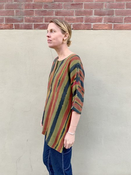 Vintage Lauren Luloff Hand Painted Silk Shirt