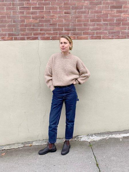 Lauren Manoogian New Fisherwoman Pullover - Camel Melange