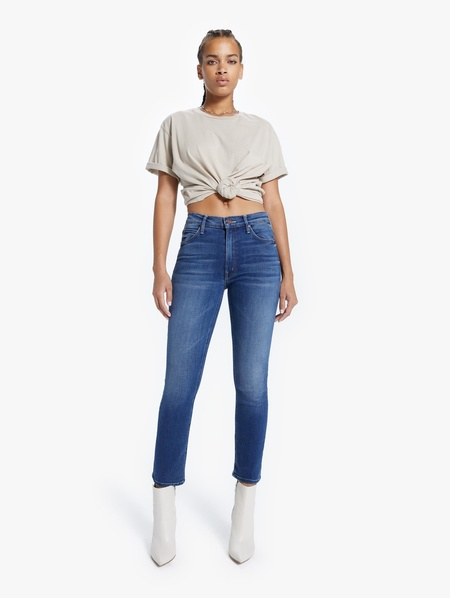 Mother Denim The Mid Rise Dazzler Ankle Jeans - Sweet And Sassy