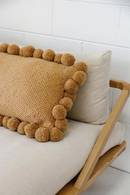 Monte Lumbar Pom Pom Cushion #2 XL - Desert
