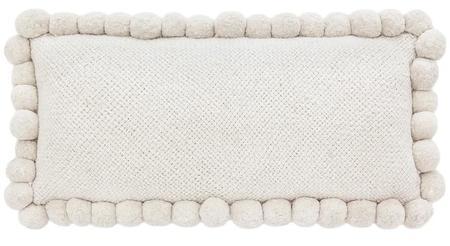 Pampa XL  Monte Lumbar Pom Pom Cushion #2 - Natural