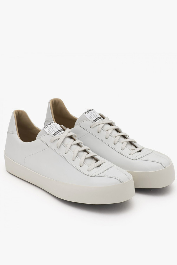 Men's Spalwart Nappa Leather Court Low Sneaker - White