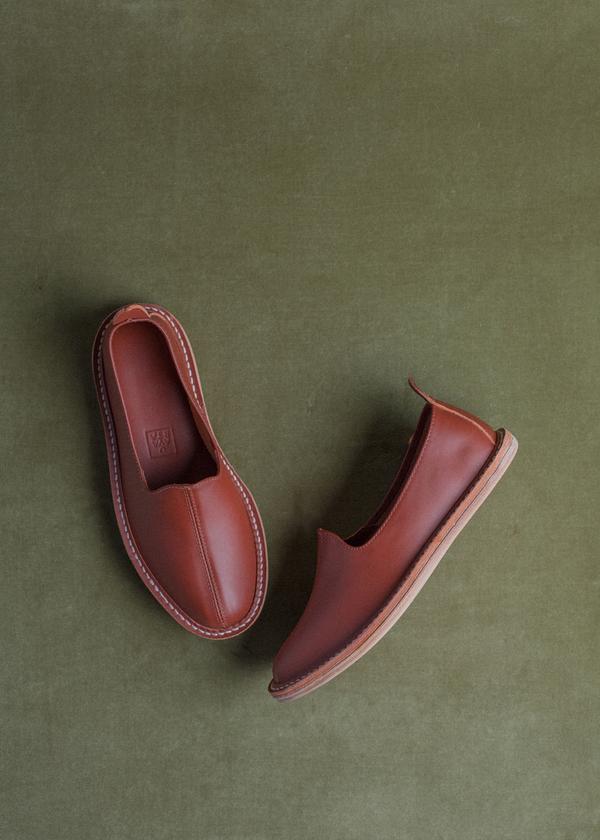 Vayarta Leather Slip On - Sienna