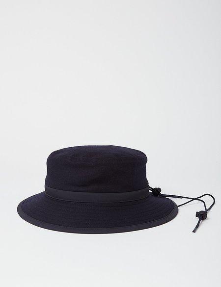 Arpenteur Sportive Wool/Cotton Bucket Hat - Navy Blue