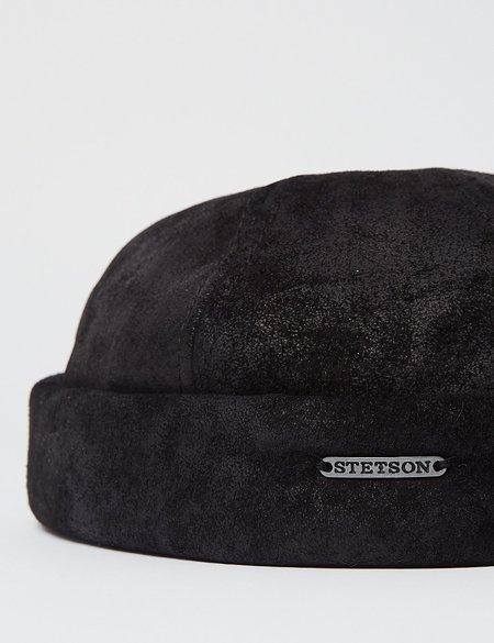 Stetson Docker Pig Skin Hat -  Black