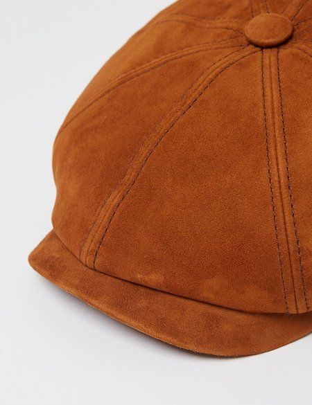 Stetson Hats Hatteras Goat Suede Flat Cap - Brown