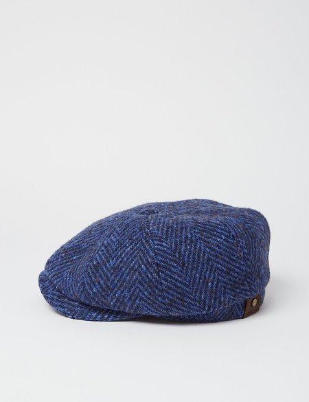 Stetson Hatteras Herringbone Cap - Blue