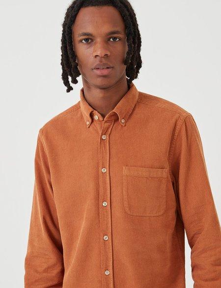 Portuguese Flannel Lobo Corduroy Shirt - Brick