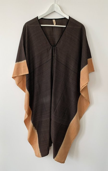 Two Short Ikat Caftan - Caramel/Brown