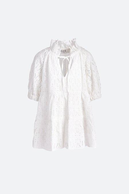Kids Sea NY Iris Eyelet Dress - White