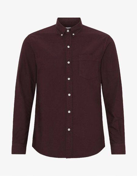 Colorful Standard Organic Button Down Shirt - Oxblood Red