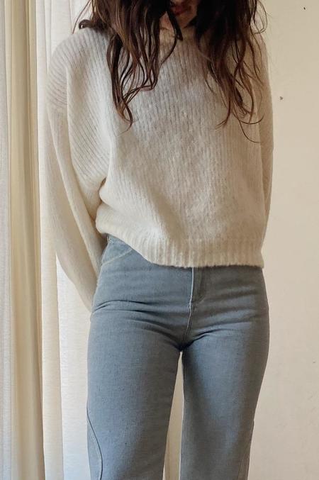 Atelier Delphine Balloon Sleeve Sweater - Cream