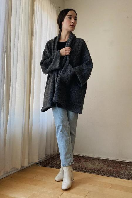 Atelier Delphine Haori Alpaca Coat - Charcoal