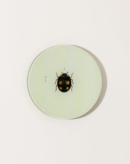 John Derian5 3/4 Round Lady Bug Plate