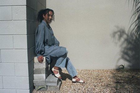 Athena Newton Smock Dress - Chambray