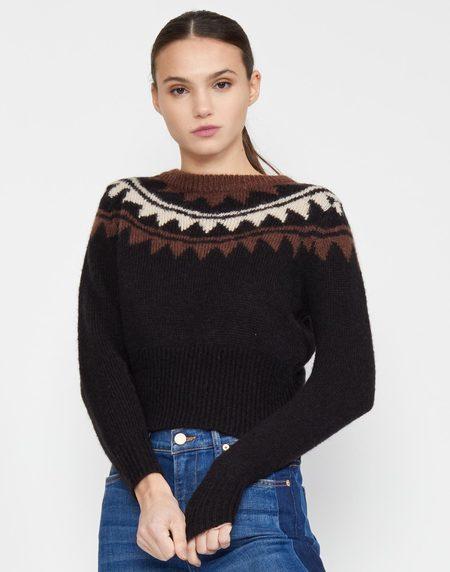 Cynthia Rowley Aspen Intarsia Knit Sweater - CHOBLK