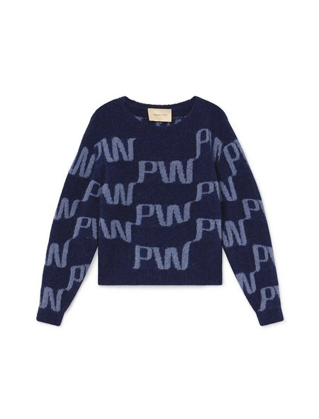 Paloma Wool Windows Knit Sweater - Dark Navy