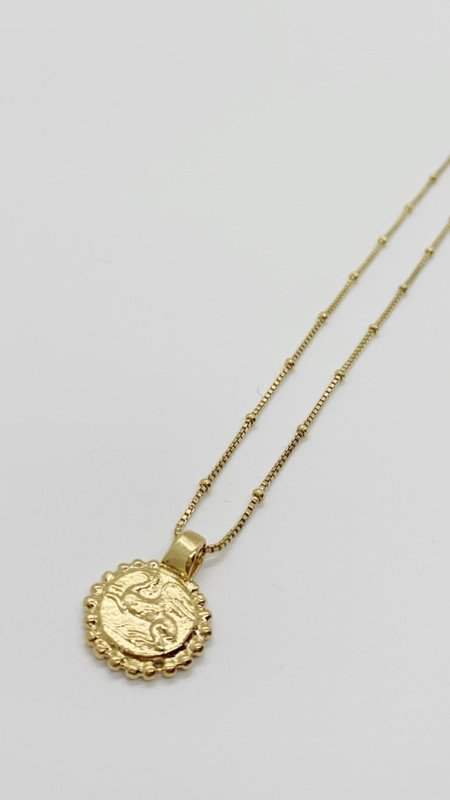 Pamela Card Heavenly Flight Amulet Necklace - 24K Gold Vermeil
