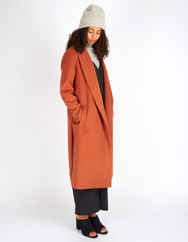 Selected Femme Oby LS Coat Mocha Bisque