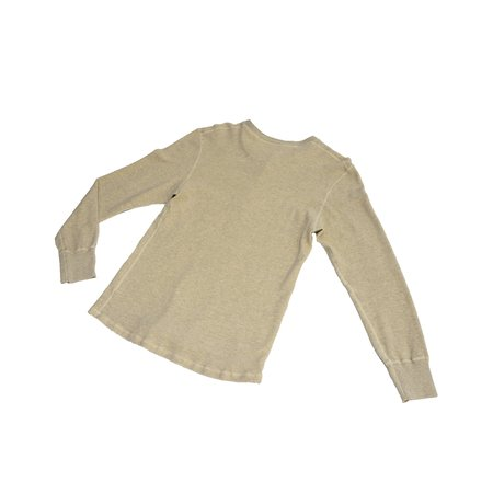 Homespun Knitwear Coalminer Henley Mil-Spec Thermal - Oatmeal