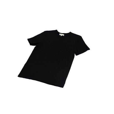 Merz b. Schwanen 2W15 Crew Neck T-Shirt Merino - Deep Black