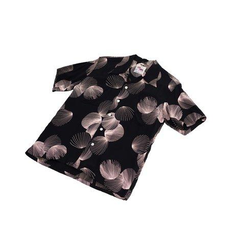 sugar cane Sun Surf Duke Kahanamoku Duke's Shell Hawiian Shirt - Black