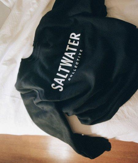 Unisex The Saltwater Collective Classic Crew Sweatshirt - Black