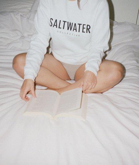 Unisex The Saltwater Collective Classic Crew Sweatshirt - White
