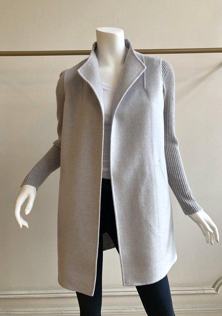 Heidi Says Rib Sleeve Coat - Grigio