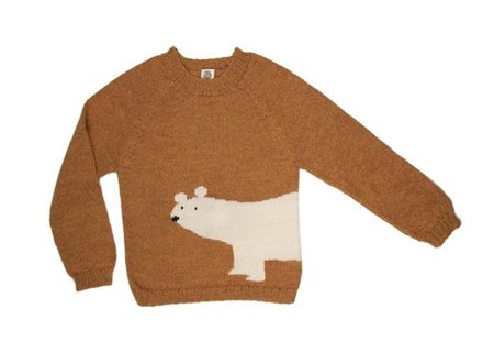 KIDS Nanay Alpaca Polar Bear Sweater