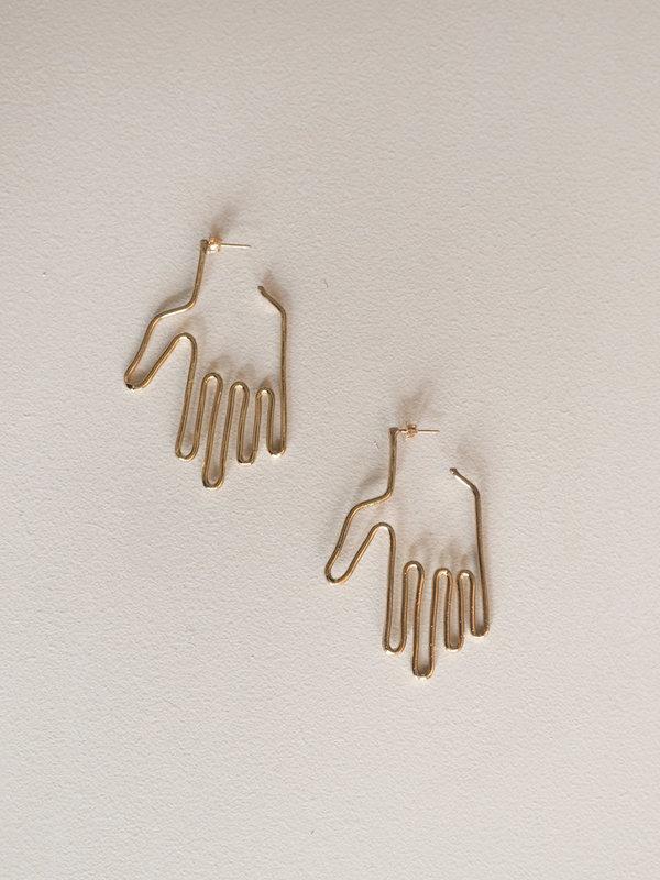 Young Frankk Hand Earrings