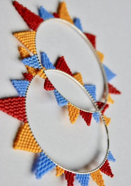 Nelie G. Mae Boldest Earring - Yellow/Red/Sky Blue
