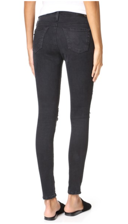 AG Jeans DISTRESSED LEGGING ANKLE denim - 3 Years Requiem