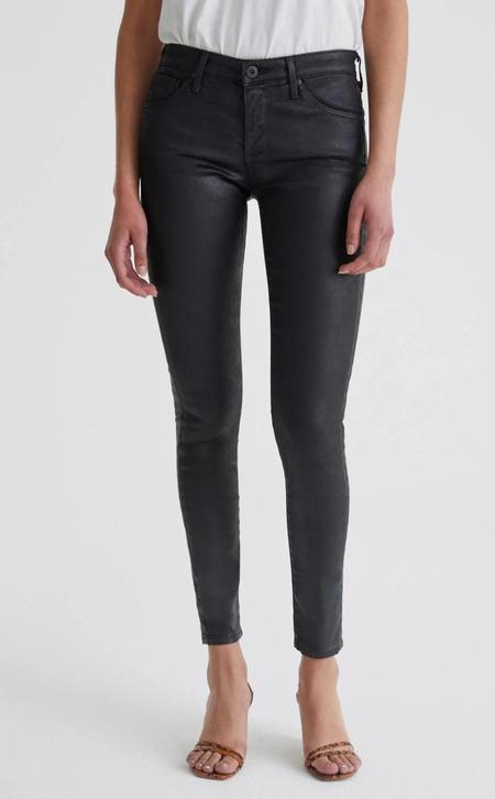 AG Jeans Legging Ankle denim - Super Black Leatherette