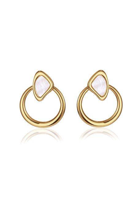Jenny Bird Cala Jackets Earring - 14K gold/brass